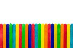 Colourful popsicle  sticks - stock photo
