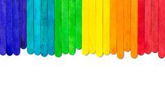 Colourful popsicle  sticks Stock Photos