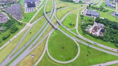 Aerial view of big roadcross Stock Footage