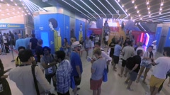 Line on Will Smith Seminar on Cannes Lions 2016. Filmed in time lapse Stock Footage