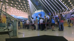Ambience on Cannes Lions 2016. Line to seminar Stock Footage