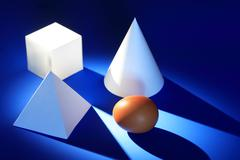 Geometric Shapes And Egg Stock Photos