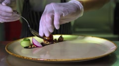 Chef prepares a gourmet steak  Stock Footage