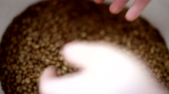 Roasting coffee beans Stock Footage