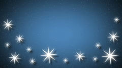 Snowflakes background. Retro shape background. Stock Footage