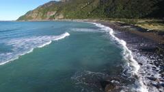 Scenic view of Kaikoura coastline, New Zealand Stock Footage