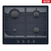Surface of gas stove Stock Illustration