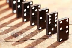 Domino Principle Concept Stock Photos