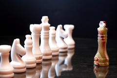 Chess Pieces Confrontation Stock Photos