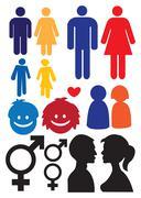 Man and woman relationship symbols Piirros