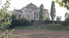 Villa Almerico Capra La Rotonda made by Andrea Palladio Stock Footage