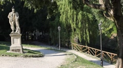"The ""Giardini Salvi"" park in Vicenza historical centre Stock Footage"