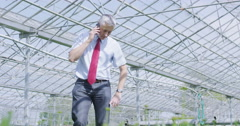 4K Business manager in the agriculture and science industry making a phone call Stock Footage