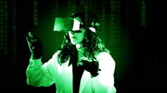 Virtual matrix doctor study records Stock Footage