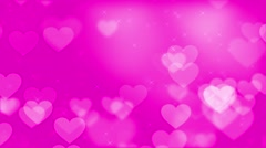 Animated video motion background - Pink love and hearts background Stock Footage