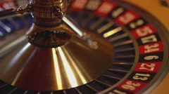 Spinning Roulette wheel - 14 red wins Stock Footage