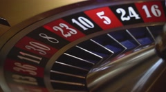 Gambling Roulette - 3 red wins - close up shot Stock Footage
