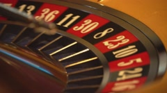 Roulette wheel - close up shot - 17 black wins Stock Footage