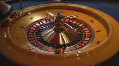 Roulette wheel in a casino Stock Footage