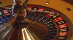 Roulette wheel in action - 29 black wins Stock Footage