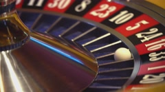 Roulette wheel - close up shot - 16 red wins Stock Footage