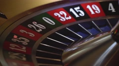 Gambling Roulette - close up shot Stock Footage