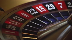 Gambling Roulette - 20 black wins Stock Footage