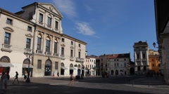 "Piovini palace ""Piazza castello"" in Vicenza historical centre Stock Footage"