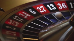 Casino game Roulette - 13 black wins Stock Footage