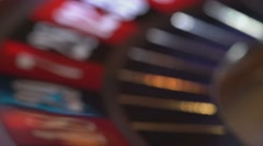 Roulette - blurry background Stock Footage