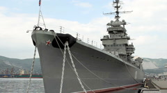 "The cruiser ""Mikhail Kutuzov"" - the ship-museum moored in Novorossiisk Stock Footage"