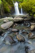 Beauty waterfall hew suwat waterfall in khoa yai national park i Stock Photos