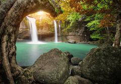 Hew su wat waterfall in khao yai national park thailand Stock Photos