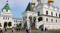 Holy Trinity Ipatiev male monastery in Kostroma Stock Footage