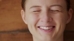 Laughter through tears Stock Footage