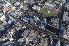 Aerial View of Hollywood Blvd in Los Angeles California Stock Photos