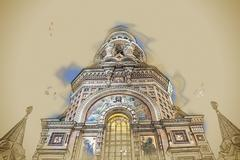 Church on Spilled Blood in Saint Petersburg, Russia Stock Illustration
