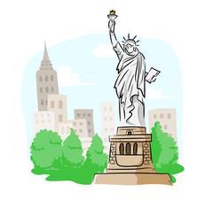Statue of Liberty Stock Illustration