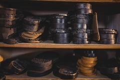 Shoe insole in shelf Stock Photos