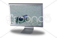 Lcd monitor flat screen Stock Photos