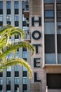 Facade of hotel building Stock Photos