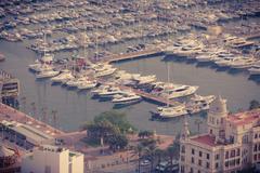 Alicante, Spain - SEPTEMBER 2015: Coast and Harbour Stock Photos