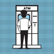 ATM and a man , vector design for business. Stock Illustration