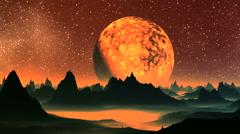 Sunrise Fiery Planet Stock Footage