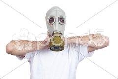 Gas mask danger Stock Photos
