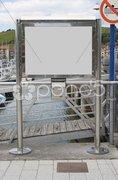 blank bulletin board - stock photo