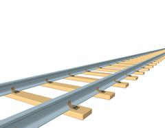 Railway track. 3d Vector illustration. Stock Illustration