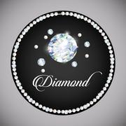 Diamond icon. Elegant concept. Gem design Stock Illustration