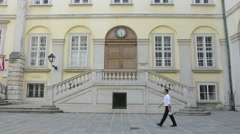 A view of the Hofburg building in Vienna, Austria Stock Footage