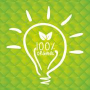 think Green design. natural concept. ecology illustration - stock illustration
